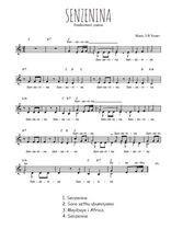 Téléchargez l'arrangement de la partition de Traditionnel-Senzenina en PDF à deux voix