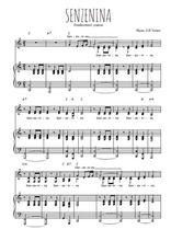 Téléchargez la partition de Senzenina en PDF pour 3 voix SAB et piano