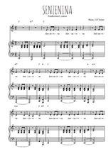 Téléchargez la partition de Senzenina en PDF pour Chant et piano