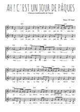 Téléchargez l'arrangement de la partition de Traditionnel-Ah-!-c-est-un-jour-de-Paques en PDF à deux voix