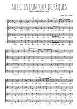 Téléchargez l'arrangement de la partition de Traditionnel-Ah-!-c-est-un-jour-de-Paques en PDF à quatre voix