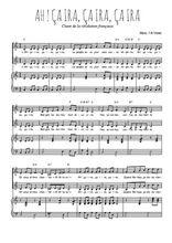 Téléchargez la partition de Ah ! Ça ira, ça ira, ça ira en PDF pour 2 voix égales et piano
