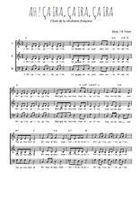 Téléchargez l'arrangement de la partition de revolution-francaise-ah-ca-ira-ca-ria en PDF à trois voix