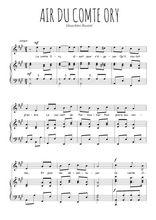 Téléchargez la partition de Air du comte Ory en PDF pour Chant et piano