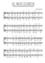 Téléchargez l'arrangement de la partition de Traditionnel-All-mein-Gedanken en PDF à deux voix