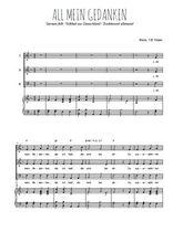 Téléchargez la partition de All mein Gedanken en PDF pour 3 voix SAB et piano