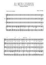 Téléchargez la partition de All mein Gedanken en PDF pour 3 voix TTB et piano