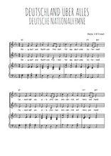 Téléchargez la partition de Deutsche Nationalhymne en PDF pour 2 voix égales et piano