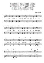 Téléchargez l'arrangement de la partition de hymne-national-allemand-deutschland-uber-alles en PDF à deux voix