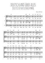Téléchargez l'arrangement de la partition de hymne-national-allemand-deutschland-uber-alles en PDF à trois voix