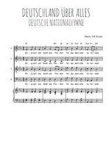 Téléchargez la partition de Deutsche Nationalhymne en PDF pour 4 voix SATB et piano