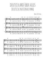 Téléchargez l'arrangement de la partition de hymne-national-allemand-deutschland-uber-alles en PDF à quatre voix