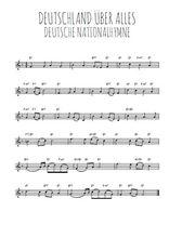 Téléchargez la partition en Sib de la musique hymne-national-allemand-deutschland-uber-alles en PDF