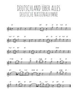 Téléchargez la partition pour saxophone en Mib de la musique hymne-national-allemand-deutschland-uber-alles en PDF