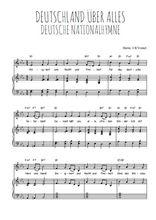Téléchargez la partition de Deutsche Nationalhymne en PDF pour Chant et piano
