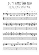 Téléchargez la tablature de la musique hymne-national-allemand-deutschland-uber-alles en PDF