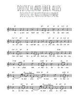 La partition gratuite de Deutsche Nationalhymne