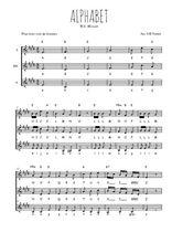 Téléchargez l'arrangement de la partition de W.A.-Mozart-Alphabet en PDF pour trois voix de femmes