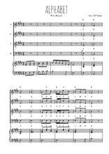Téléchargez la partition de Alphabet en PDF pour 4 voix SATB et piano