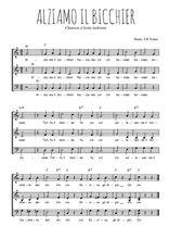 Téléchargez l'arrangement de la partition de Traditionnel-Alziamo-il-bicchier en PDF à trois voix