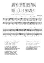 Téléchargez l'arrangement de la partition de Traditionnel-Am-Weihnachtsbaum-die-Lichter-brennen en PDF à deux voix