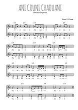 Téléchargez l'arrangement de la partition de Traditionnel-Ani-couni-chouani en PDF à deux voix
