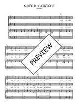 Téléchargez la partition de Noël d'Autriche en PDF pour 2 voix égales et piano