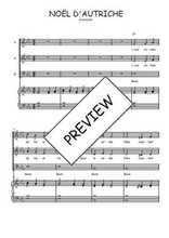 Téléchargez la partition de Noël d'Autriche en PDF pour 3 voix SAB et piano