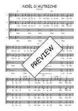 Téléchargez l'arrangement de la partition de Traditionnel-Noel-d-Autriche en PDF à quatre voix