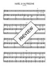Téléchargez la partition de Noël d'Autriche en PDF pour Chant et piano