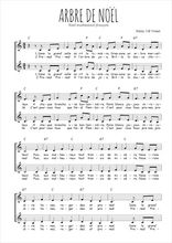 Téléchargez l'arrangement de la partition de Traditionnel-Arbre-de-Noel en PDF à deux voix