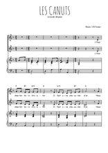 Téléchargez la partition de Les Canuts en PDF pour 2 voix égales et piano