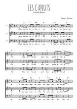 Téléchargez l'arrangement de la partition de Aristide-Bruant-Les-Canuts en PDF à trois voix