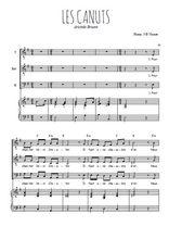 Téléchargez la partition de Les Canuts en PDF pour 3 voix TTB et piano
