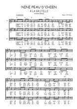 Téléchargez l'arrangement de la partition de aristide-bruant-nini-peau-d-chien-a-la-bastille en PDF à trois voix