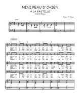 Téléchargez la partition de Nini Peau d'Chien en PDF pour 4 voix SATB et piano