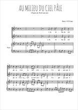 Téléchargez la partition de Au milieu du ciel pâle en PDF pour 2 voix égales et piano