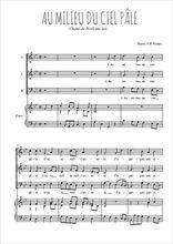 Téléchargez la partition de Au milieu du ciel pâle en PDF pour 3 voix SAB et piano