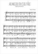Téléchargez l'arrangement de la partition de Traditionnel-Au-milieu-du-ciel-pale en PDF à trois voix