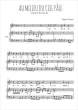 Téléchargez la partition de Au milieu du ciel pâle en PDF pour Chant et piano
