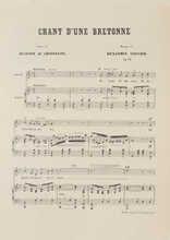 Chant d'une bretonne Partition gratuite