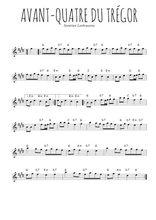 Téléchargez la partition pour saxophone en Mib de la musique bretagne-avant-quatre-du-tregor en PDF