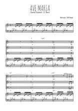 Téléchargez la partition de Ave Maria en PDF pour 3 voix SAB et piano
