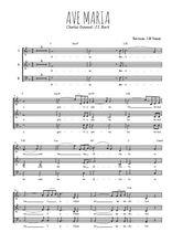 Téléchargez l'arrangement de la partition de gounod-bach-ave-maria en PDF à trois voix