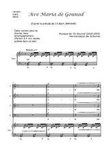 Téléchargez la partition de Ave Maria en PDF pour 4 voix SATB et piano