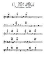 Téléchargez la partition pour saxophone en Mib de la musique espagne-ay-linda-amiga en PDF