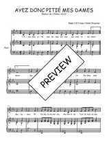 Téléchargez la partition de Ayez donc pitié mes Dames en PDF pour Chant et piano