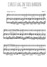 Téléchargez la partition de Christ lag in Todes Banden en PDF pour Chant et piano