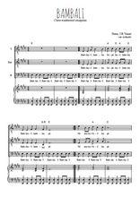 Téléchargez la partition de Bambali en PDF pour 3 voix TTB et piano