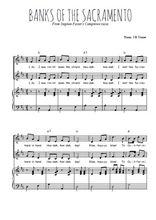 Téléchargez la partition de Banks of the Sacramento en PDF pour 2 voix égales et piano